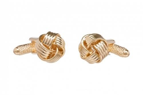 Classic Gold  Coloured Knot Cufflinks